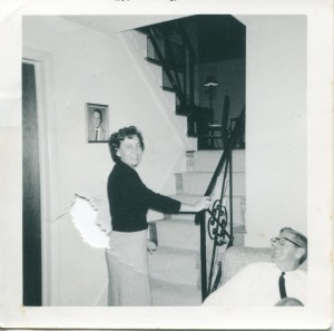 My parents Hub and Helen in our Kensington home in 1962