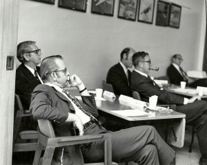 Hub Frink far left at IBM circa 1968. Check out the dude with the pipe